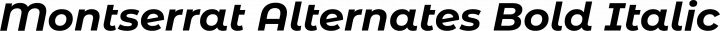 Montserrat Alternates Bold Italic free font