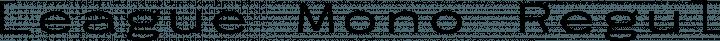 League Mono Regular Extended free font