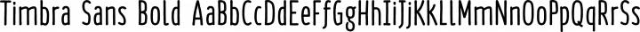 Timbra Sans Bold free font