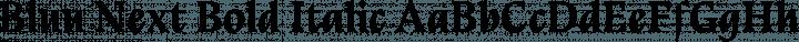 Bluu Next Bold Italic free font