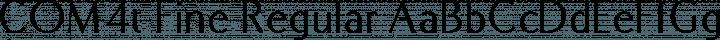 COM4t Fine Regular font family by COM4t