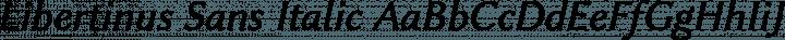 Libertinus Sans Italic free font