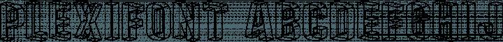 Plexifont font family by Blue Vinyl Fonts