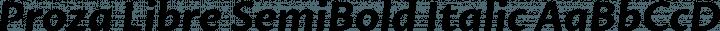 Proza Libre SemiBold Italic free font