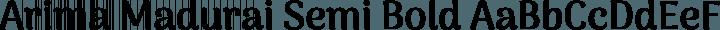Arima Madurai Semi Bold free font