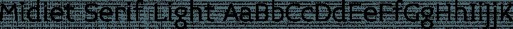 Midiet Serif Light free font
