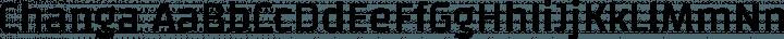 Changa Regular free font
