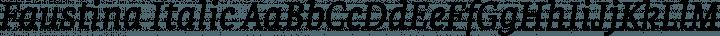 Faustina Italic free font