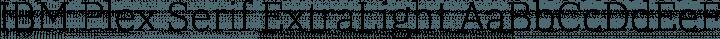 IBM Plex Serif ExtraLight free font