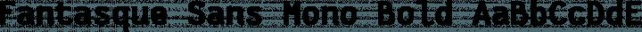 Fantasque Sans Mono Bold free font