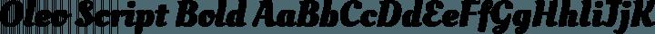 Oleo Script Bold free font
