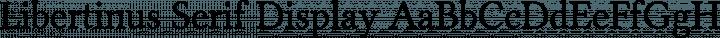 Libertinus Serif Display free font
