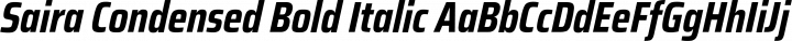 Saira Condensed Bold Italic free font