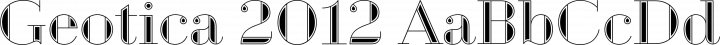 Geotica 2012 Regular free font