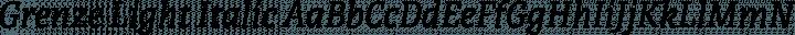 Grenze Light Italic free font