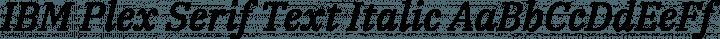 IBM Plex Serif Text Italic free font