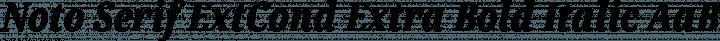 Noto Serif ExtCond Extra Bold Italic free font