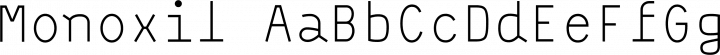Monoxil font family by Urtd