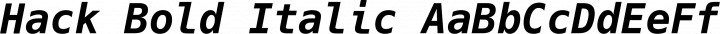 Hack Bold Italic free font