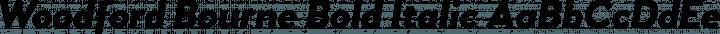 Woodford Bourne Bold Italic free font