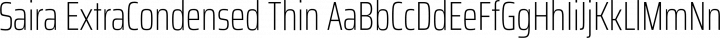 Saira ExtraCondensed Thin free font