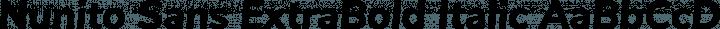Nunito Sans ExtraBold Italic free font