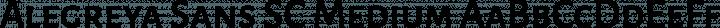 Alegreya Sans SC Medium free font
