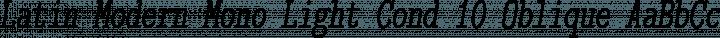 Latin Modern Mono Light Cond 10 Oblique free font