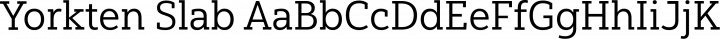 Yorkten Slab Regular free font