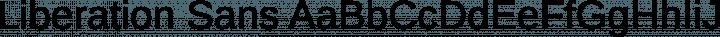 Liberation Sans Regular free font