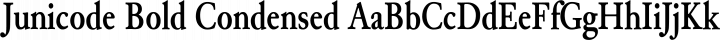 Junicode Bold Condensed free font
