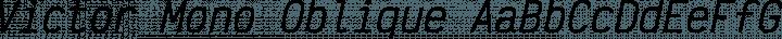 Victor Mono Oblique free font