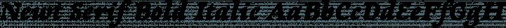 Newt Serif Bold Italic free font