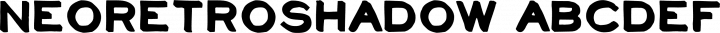 NeoRetroShadow Regular free font