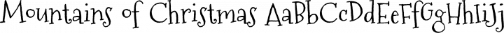Mountains of Christmas Regular free font