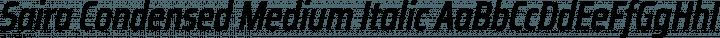 Saira Condensed Medium Italic free font