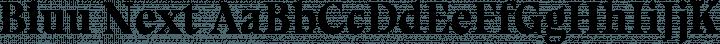 Bluu Next font family by Jean-Baptiste Morizot