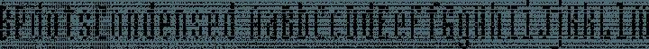 BPdotsCondensed font family by Backpacker