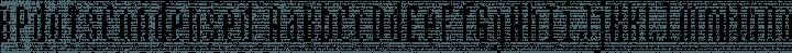 BPdotsCondensed Regular free font