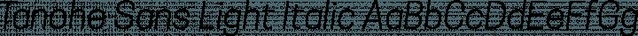 Tanohe Sans Light Italic free font