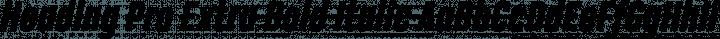 Heading Pro Extra Bold Italic free font