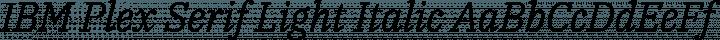 IBM Plex Serif Light Italic free font