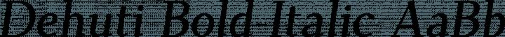 Dehuti Bold-Italic free font