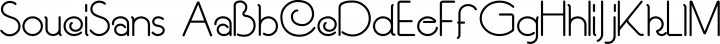 SouciSans Regular free font