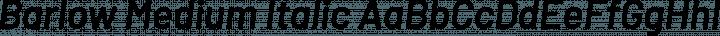 Barlow Medium Italic free font