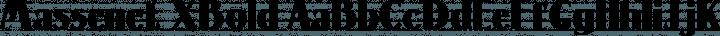 Massenet XBold free font