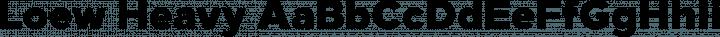 Loew Heavy free font
