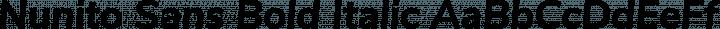Nunito Sans Bold Italic free font