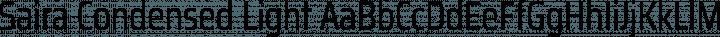 Saira Condensed Light free font