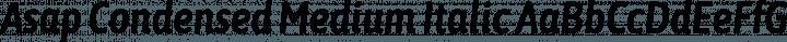 Asap Condensed Medium Italic free font
